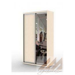 Шкаф купе двухдверный с 1 зеркалом