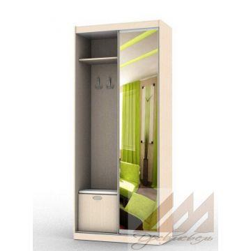 Шкаф купе в прихожую с зеркалом (1000-1400)