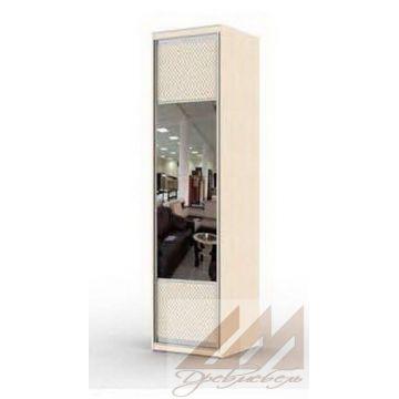 Распашная колонка комбинированная с зеркалом и кожзамом