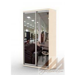 Шкаф купе двухдверный зеркальный (1000-1700)