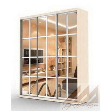 Шкаф купе 3х-дверный зеркальный-прованс  (1800-2500)