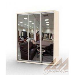 Шкаф купе трехдверный зеркальный  (1800-2500)