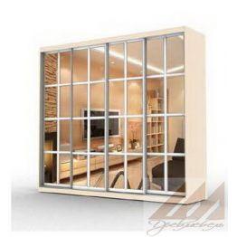 Шкаф купе с 4 зеркалами- прованс (2400-3200)
