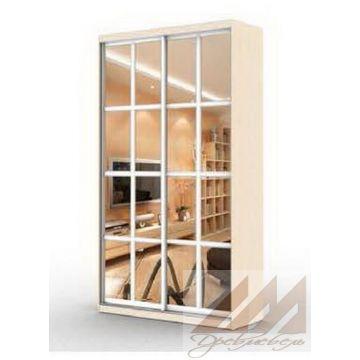 Шкаф купе двухдверный зеркальный -прованс (1000-1700)