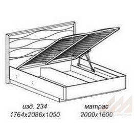 Кровать с подъемным механизмом №234 Корвет МК 57