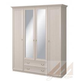Шкаф с зеркалом 4-х дверный №290 Корвет МК 57