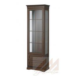 Шкаф витрина №324 Корвет МК 59 саванна-патина