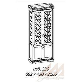 Шкаф витрина №330 Корвет МК 59
