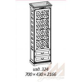 Шкаф витрина №324 Корвет МК 59