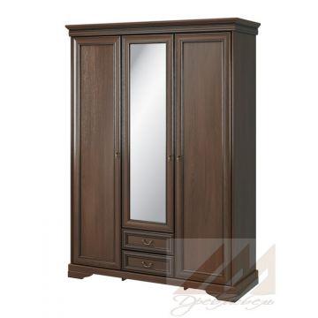 Шкаф с зеркалом 3-х дверный №332 Корвет МК 60