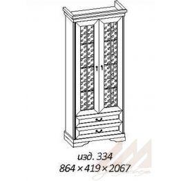 Шкаф витрина №334 Корвет МК 60