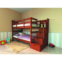 Детская двухъярусная кровать с лестницей Сиена