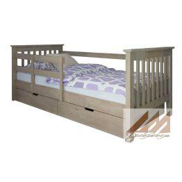 Детская кровать с бортиком (сосна, береза, бук, дуб)
