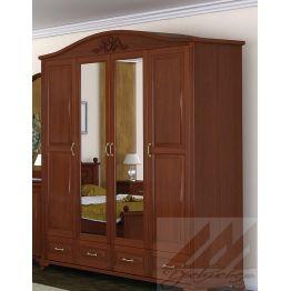 Шкаф четырехстворчатый №3, для одежды из березы, бука, сосны или дуба