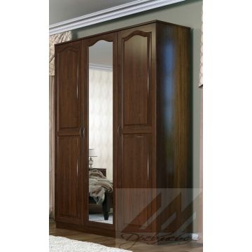 Шкаф трехстворчатый №1, для одежды из массива бука, березы, сосны или дуба