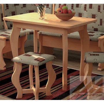 Недорогой стол 4Д из массива бука, дуба, березы или сосны