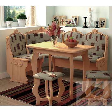 Кухонный уголок Hoвый резной из массива дерева