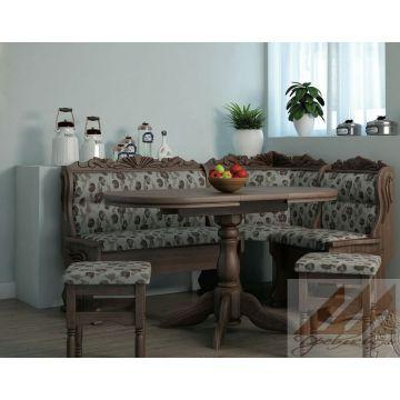 Кухонный уголок Уют резной из массива бука, дуба, березы или сосны.