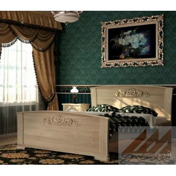 Кровать Венера (сосна, береза, бук, дуб)