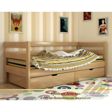 Детская кровать из массива дерева дуба, бука, березы и сосны