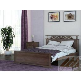 Кровать Ирида резная (сосна, береза, бук, дуб)
