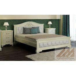 Кровать Венеция (сосна, береза, бук, дуб)