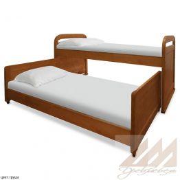 Детская кровать с дополнительным местом Мурзилка