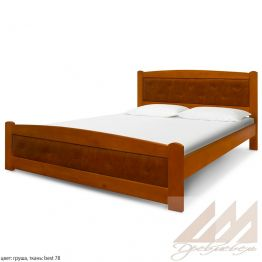 Кровать с кожзамом Березка