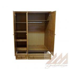 Шкаф для одежды 3х-створчатый из массива