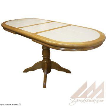 Стол обеденный овальный с керамической плиткой - Грэкс 1