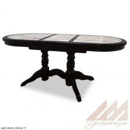 Стол обеденный овальный с керамической плиткой - Грэкс 2