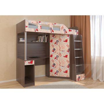 Кровать чердак Астра 7 Кеды
