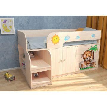 Кровать чердак Леопард Астра 9 В1