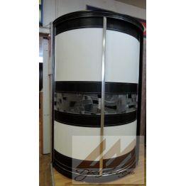 Радиусный шкаф купе с витражом на заказ