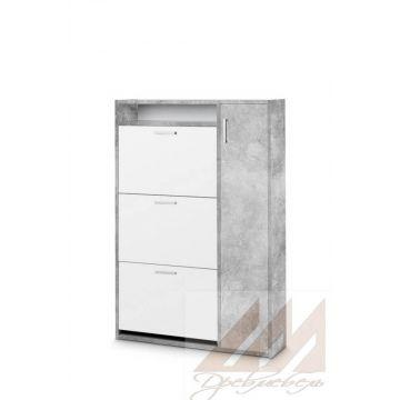 Обувница ШК-3 бетон/белый