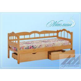 Кровать детская из сосны Жасмин