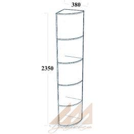 Небольшая угловая колонка 380х380