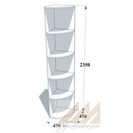 Угловой элемент прямой 450х450