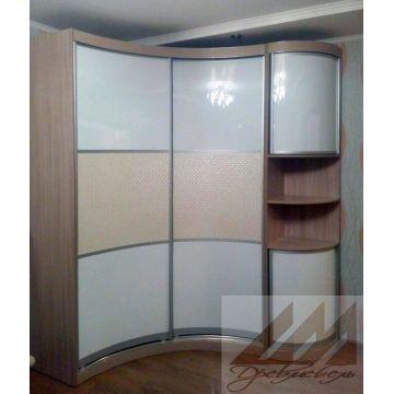 Вогнутый радиусный шкаф и радиусная колонка 2 двери