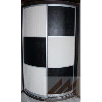Радиусный шкаф выпуклый низкий (для одежды или полки) 900х900