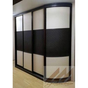 Шкафы купе с радиусным элементом