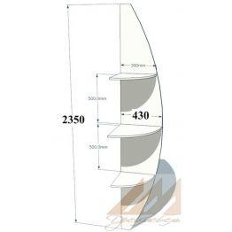Угловой элемент радиусный  430