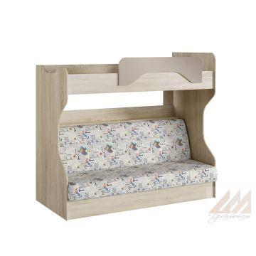 Кровать Акварель 2-х ярусная с диваном НМ 037.43