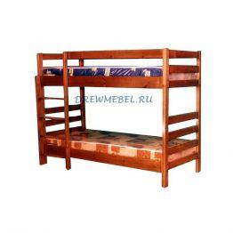 Детская двухъярусная кровать из сосны №112
