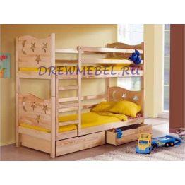 Детская двухъярусная кровать Ночка