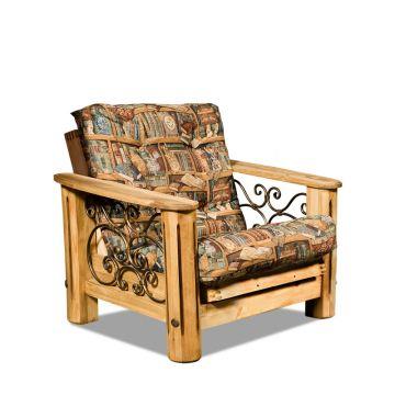 """Кресло """"Викинг 02"""" с кованными элементами"""
