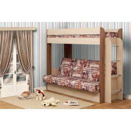 Кровать чердак с диван кроватью Немо