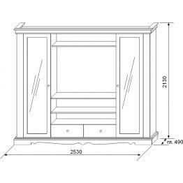Шкаф комбинированный Амелия КМК 0435.1