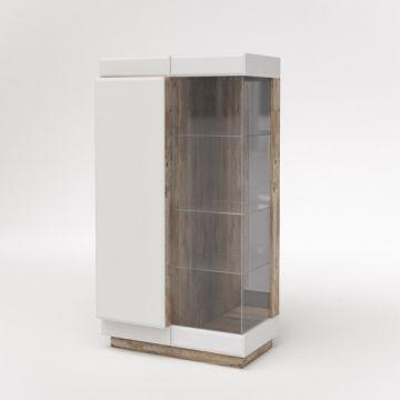 Шкаф с витриной Роксет КМК 0554.3
