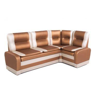 Кухонный угловой диван со спальным местом Маэстро кожзам 109-101